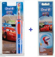 Braun Oral-B Advance Power 900 Kids gyerek elektromos fogkefe  (D9513) verdás + EB 10-2 pótkefe csomag