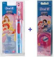 Braun Oral-B Advance Power 900 Kids gyerek elektromos fogkefe (D9513) hercegnő + EB 10-2 pótkefe csomag
