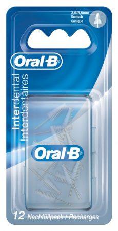 Oral-B Interdental finom kúpos pótkefe 3-6,5 mm 12 db
